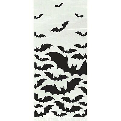 Black Bats Cello Bags 20 Halloween Party Trick Or Treat Lolly Favour Sacks