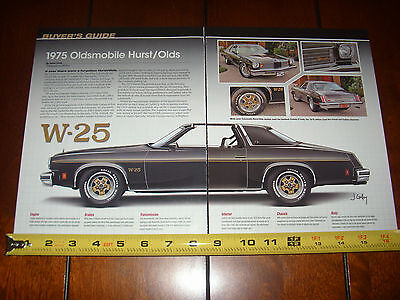 1975 OLDSMOBILE HURST Olds - Original 2010 Article