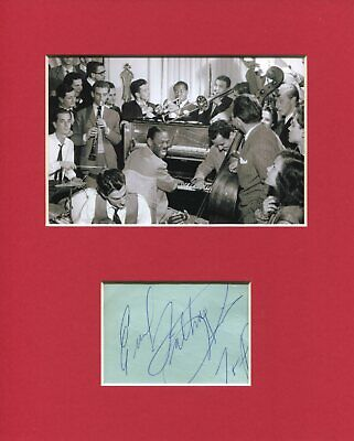 Earl Fatha Hines Jazz Pianist Bandleader Rare Signed Autograph Photo Display