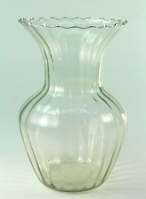 ! Antique Venetian MURANO Thin-Walled Hand Blown Clear Glass Vase