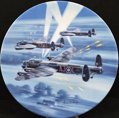 Royal Worcester Dambusters Plane Plate Over Enemy Territory