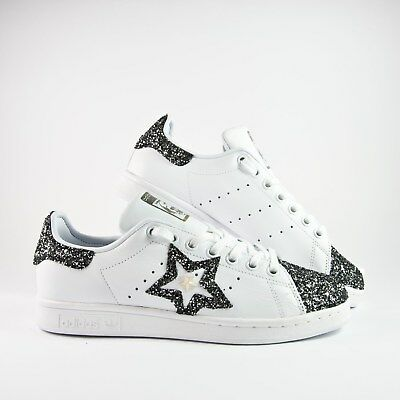 Adidas Stan Smith con stelline in glitter nero
