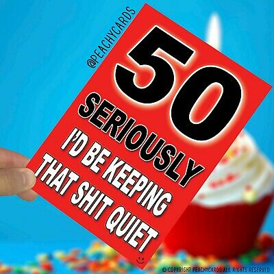 50th Birthday Cards Funny Witty Banter Friend Colleague Humour Hilarious PC914