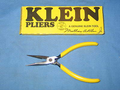 """Klein Tools D222-6C 6"""" Long Nose Cutting Pliers w/Spring - NEW in Box USA Tool"""