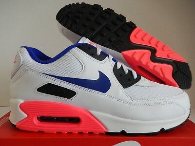 Nike Air Max 90 Essential White Ultramarine Solar Red Shoes