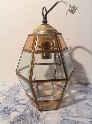 Vintage French 6 Sided Lantern Style Ceiling Light (3113)
