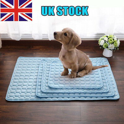 Pet Dog Cat Bed Cooling Gel Pad Viscose Fiber Mat Summer Chilly Non Toxic Mat IL