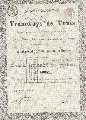 Societe Des Tramways De Tunis 1888