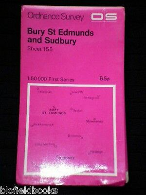 Ordnance Survey OS Map 155: Bury St Edmunds & Sudbury - Folding Map