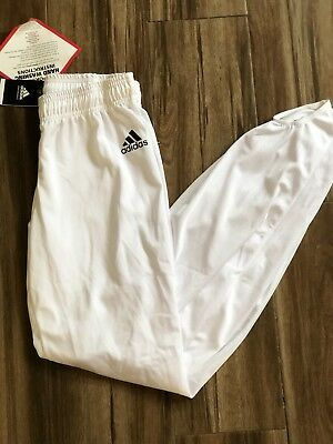 0ab65674a740 ADIDAS MEN'S GYMNASTICS White Pommel Pants Competition Stirrup Pants~MEDIUM  NEW