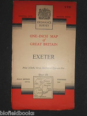 Vintage Ordnance Survey Map of  Exeter - 1960  - Devonshire, Exmouth, Sidmouth