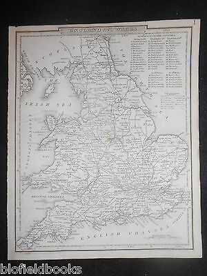 England and Wales Map, c1860 - With Canals, Navigable Rivers, Railroads, etc