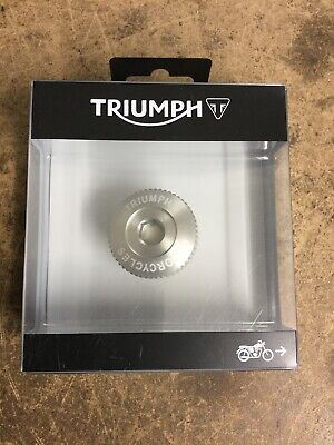 Triumph Thruxton 1200, T120, Street Twin CNC Clear Oil Filler Cap NEW 16-19