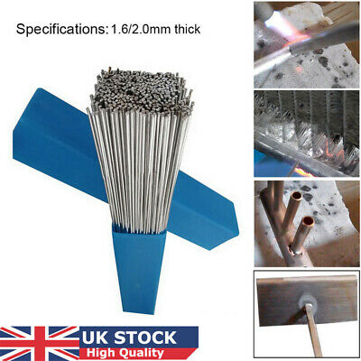 10/50 2mm * 50 cm Silver Aluminium Welding Brazing Rods Wire Low Temperature LOC