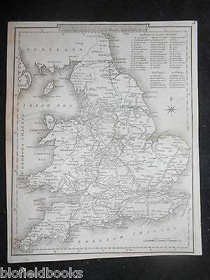 Victorian England and Wales Map, c1850 - With Canals/Navigable Rivers, Railroads