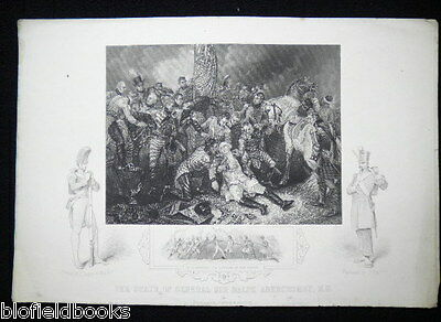 The Death of General Sir Ralph Abercrombie-Napoleonic/Egypt War General-c1860
