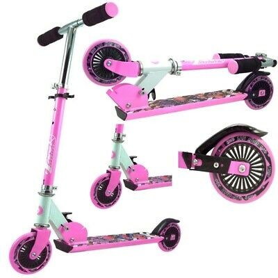 Cityroller Kinder Roller Alu Scooter Roller Tretroller 125er Big Wheel -  PINK