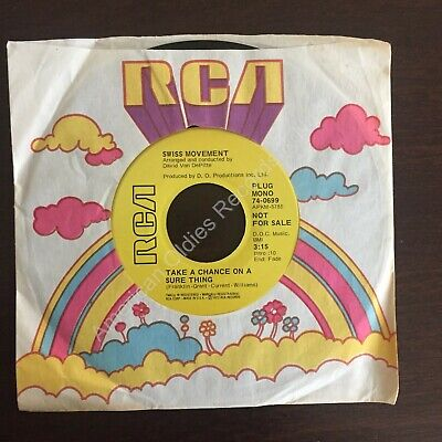 """Northern Soul 45 SWISS MOVEMENT  """"Take A Chance On A Sure Thing"""" RCA demo HEAR!"""