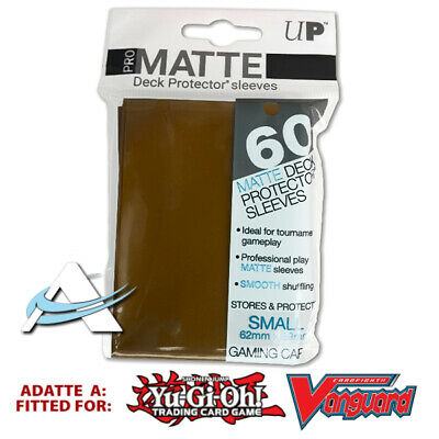 60 Bustine Protettive NEW Ultra PRO MATTE Small Size Sleeves • Marrone Brown