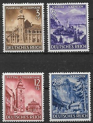 Germany's Third Reich  Mi# 806-809 MH Annexation of Northern Slovenia 1941 *