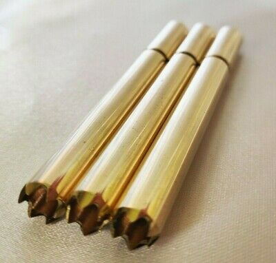"3 Brass Grinder Tip One Hitter 3"" Bats for Dugout Stash Boxes +12 Pipe Screens"