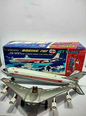 New Old Stock Mint Tin Boeing 707 made in Japan by Nomura without Working