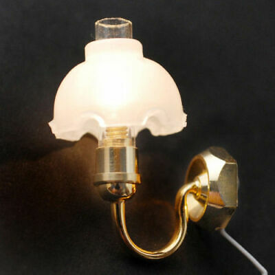 1:12 Scale Dollhouse Miniature 12 volt Wired Fancy Wall Sconce Light #WCEL211