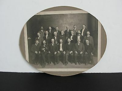 Group of American Businessmen-1900s B/W Photo on Oval Cardboard-Unframed. RARE!