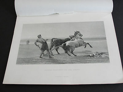 Art Print unframed engraving by Charles Cousen-ULYSSES PLOUGHING THE SEA SHORE.