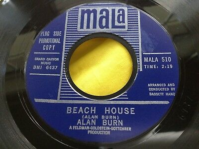 Hear Rare Garage Rock Pop 45 : Alan Burn ~ Beach House ~ Mala 510 Promo