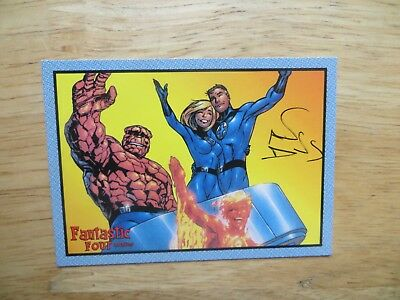 2008 Marvel Fantastic Four Archives Card # 59 Signed By Alan Davis, With Poa