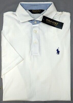 NWT $98 Polo Golf Ralph Lauren White Short Sleeve Shirt Mens Size M XL NEW