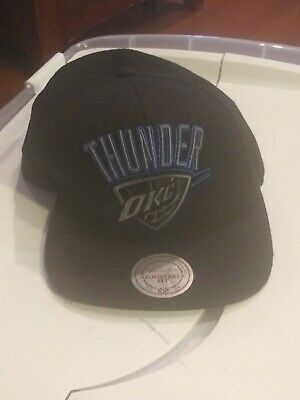 f71cdc8f77d44 Oklahoma City Thunder Mitchell   Ness Snapback Cap OKC NBA Hat Embroidered