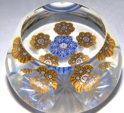 PERTHSHIRE GLASS   PAPERWEIGHT PP14 CLEAR FACET STAR CUT    YEAR i