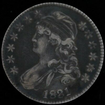 1831 50c Capped Bust Lettered Edge Sharp Details - VERY NICE COIN!