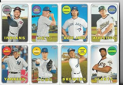 2018 Topps Heritage High Numbers Short Print High Set 1:3 SPs #701-725