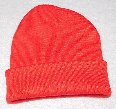 5e2aa019c3a5a Winter Knit Beanie Stretch Hat Red Adult Youth Unisex One Size Mens Womens