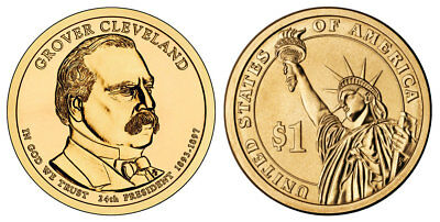 2012 P&D Grover Cleveland 2nd term Presidential One Dollar Coins U.S. Mint Rolls