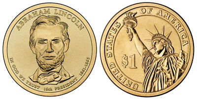 2010 P&D Abraham Lincoln  One Dollar Presidential Money Coins U.S. Mint Rolls