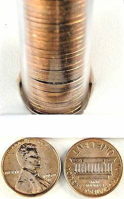 1959-D Lincoln Memorial Penny Roll of 50 cents UNC. P3