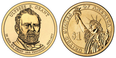 2011 P&D Ulysses Grant Presidential One Dollar Coin U.S. Mint Rolls Coins Money