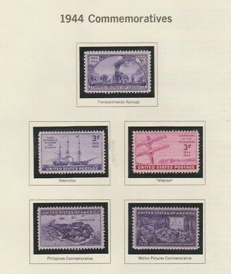 U.S. 1944-45 Commemorative Year Sets #922-38, 17 Stamps COMPLETE, mNH Fine