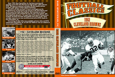 1961 NFL Cleveland Browns Highlights -Jim Brown on DVD!