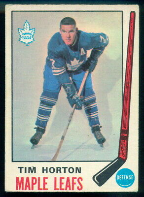 1969-70 Opc O Pee Chee #182 Tim Horton Vg-Ex Toronto Maple Leafs Hockey Card