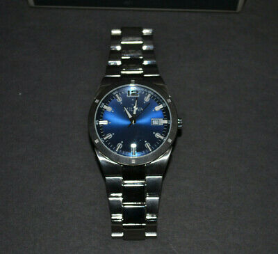 Bulova Men's 96B220 Stainless Steel Watch w/ Stainless Steel Link Band Blue Face