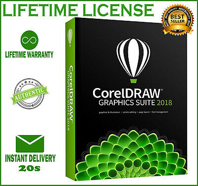 CorelDRAW X8 GRAPHICS SUITE 2018 🔥 LIFETIME LICENSE KEY 🔥 INSTANT DELIVERY 🔥