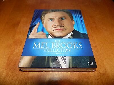 MEL BROOKS COLLECTION 9 Films Blazing Saddles Young Frankenstein BLU-RAY SET NEW