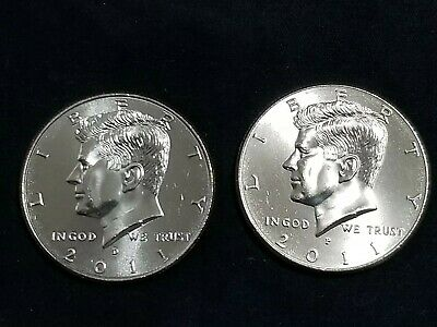 2011 P&D President Kennedy Half Dollar Fifty Cent Coin U.S Mint Roll Collectible