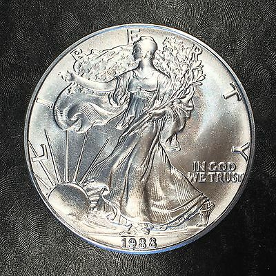 1988 Uncirculated American Silver Eagle US Mint Issue 1oz Pure Silver #E631