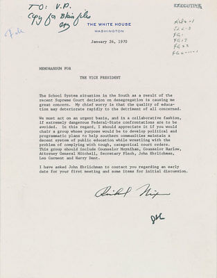 2 Richard Nixon Typed Letters Signed as President - To VP Spiro T. Agnew
